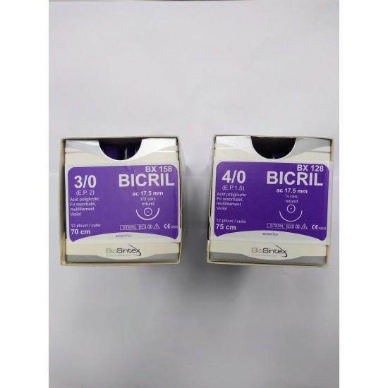 Игла с конец - резорбируем - BICRIL - 3/0 - 4/0